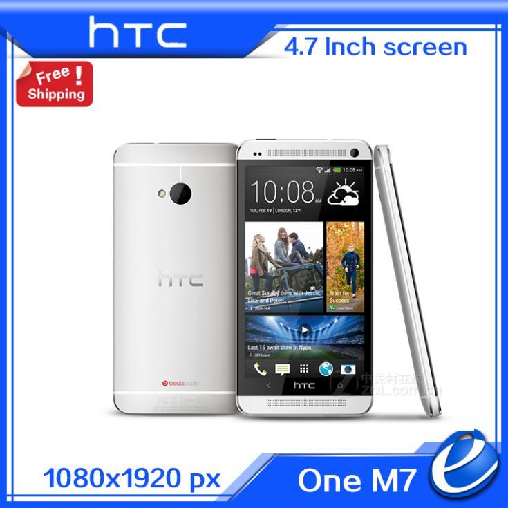 Original HTC One M7 4G LTE european version latest Andriod 4.4.3 phone NFC Unlocked GPS WIFI 4.7'' 32GB Cell Phone Refurbished(China