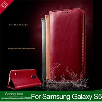100% Genuine Leather KA LAIDENG  Not begrudge Series Leather Case For Samsung Galaxy S5 i9600 Free Shipping