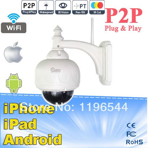 NEO COOLCAM Dome PT Pan/Tilt Speed IR CUT Waterproof Outdoor CCTV Security Network Wireless WiFi IP Camera(China (Mainland))