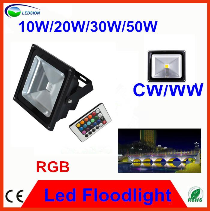 produto 8pcs Good price B2B Qaulity 10w 20W 30W 50W AC100-240V Black RGB led flood light Ce&Rohs with2 years warranty efficiency 90%