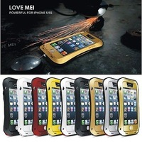 Aluminum Gorilla Glass Metal Cover Case for iPhone 5S 5G Waterproof Shockproof