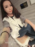 FS890 Asian Style full sleeve stripe  jacket/coat