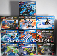 Wholesale 10 pcs/lot 20 styles no box Mini Building Blocks Children educational Army Space Pirates Police Race model free ship