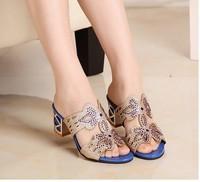 Hot!!! High heels Heel Women's Sandals 2014 Summer Women Summer Shoes 2014 Summer Shoes Fashion Sandals Sweet Free Shipping