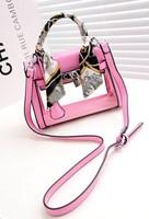 Transparent jelly balyy h small bag silk scarf lock platinum women's handbag cross-body handbag