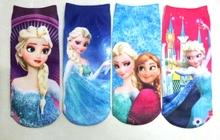 Congelados Girls niños Calcetines 1-10Yrs verano Babys calcetines de algodón de dibujos animados niño normal zapatilla de deporte Calcetines 12Pairs / Lote Niños Tamaño A / B / C / D(China (Mainland))