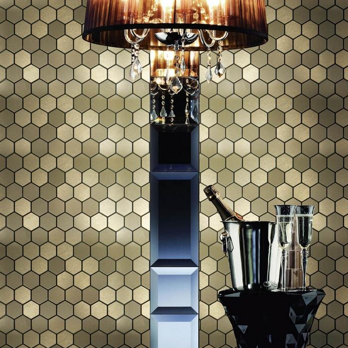 self adhesive aluminum composite mosaic tiles kitchen backsplash