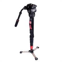 JIEYANG JY0506 Aluminum Alloy 8KG Professional Video Monopod with Tripod Head & Carry Bag