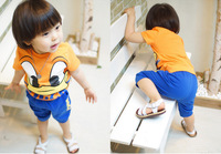 2014 Unisex Active Sports Children's Sets: Duck T-Shirts With Shorts for 2-6 Year-old Children FreeShipping Wholesale & Retail