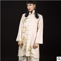 2013 autumn and winter bodysuits trench plate buttons design long outerwear chinese style tang suit national trend