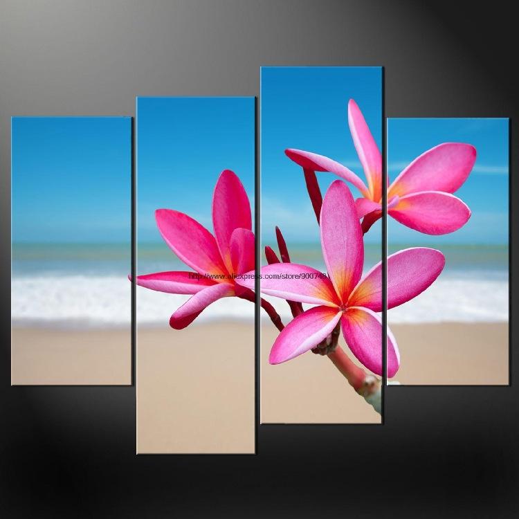 Tropische Bloemen Kopen Tropische Bloemen Cascade Premium Canvas Foto Grootte Olieverfschilderijen