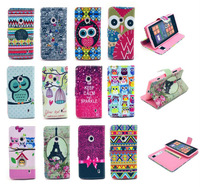 New Various Multi Pattern Flower Leather Wallet Stand Flip Pouch Case Cover For NOKIA LUMIA 520 + Free Screen