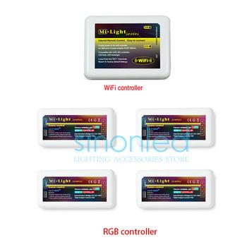 Бесплатная доставка 2.4 г 4 часовой пояс 1x Wifi + 4 x из светодиодов RGB контроллер ...