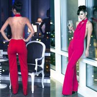 Free shipping summer new Fashionable Net color club party sexy jumpsuits KM016