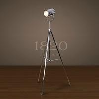 American searchlight modern loft mix match stainless steel triangle bracket metal floor lamp