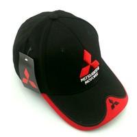 Wholesale 2014 New MMC Mitsubishi motors F1 racing car motorcycle sports embroidery racing cap baseball cap hat Dropshipping