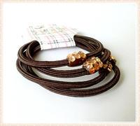 Min order $10 Ultra elastic hair rope hair rubber band hair holder hair accessories wholesale coffee 4pcs/set
