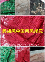 Wholesale,Chinese Style pattern, high atmospheric wind flavor hollow soluble lace cheongsam dance sets clothes,star lace,C011
