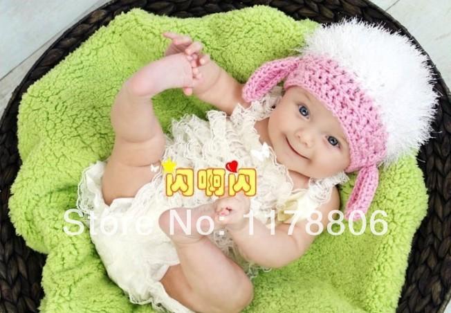 037 Baby Crochet Newborn plush hat handmade crochet photography props baby knitted hat(China (Mainland))