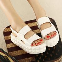 New arrival 2013 fashion vintage women's shoes rivet platform wedges sandals  -07