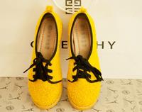 2014 sweet comfortable plush lacing flat heel round toe cute women's shoes flat single shoes  -07
