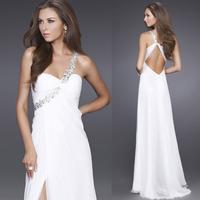 2014 New Evening dress long design 2014 oblique fashion evening dress fashion full dress wedding Wine red formal dress