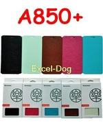 Hot Sale 2014 Newest Lenovo A850+ Case Leather Flip Case In Stock Lenovo A850 Plus Leather Flip Cover 1pcs Free Shipping