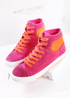 2014 popular high color block decoration flat canvas shoes all-match preppy style women's sports casual shoes