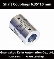 Best Price!Flexible shaft Coupler 6.35 x 10 mm flexible shaft for screw shaft cnc parts stepper motor