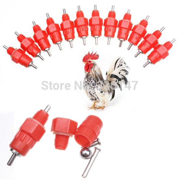 1000pcs/lot Water Nipples Drinker Poultry Chicken Duck Coop Feeder Screw 360 Degree THE CHEAPEAST Wholesale(China (Mainland))