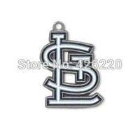 Free shipping 50pcs a lot antique silver single-sided enamel MLB St.Louis Cardinals Baseball sports charm pendant(H103908)