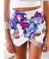 free shIpping .2014 Fashion LOVEGIRL Flower print  shorts n  FT891