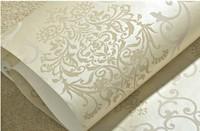 Non-woven Flocking Wallpaper Roll 3D Waterproof Rustic Modern Europe Leaf Background Decor Wall Wall Paper Coffe papel de parede