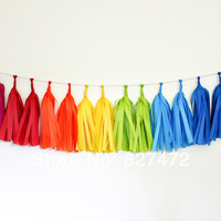 "50pcs14"" tissue tassel garlands DIY wedding & event party decoration baby shower nursey holiday party balloon hanging garlands"