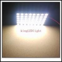 Free Shipping 10pcs T10 BA9S Festoon 3 Adapters DC12V LED reading Panel Car interior Dome light 48 SMD 5050 white Light