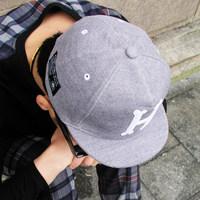 Brand Velvet embroidered baseball cap flat brim cap street short brim hat color block printing sunbonnet  Free shipping