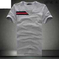 New Cotton Stylish Tops 3 Color V-Neck short Casual Men's T-Shirt