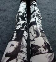 2014 New Fashion European and American Style Beautiful Women Black White Skinny Leggings 130g SL012