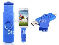 Smart Phone USB Flash Drives Rotatable OTG 128MB 4GB 8GB 16GB 32GB USB Flash Drive for Cell Phones & Tablet PCs (Blue)