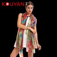 Quality silk scarf female long design mulberry silk print scarf cape  Free shipping