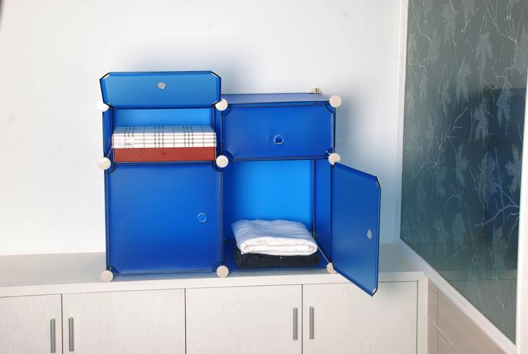 Diy 2 storage rack cabinet magicaf shelf storage closet cabinet(China (Mainland))