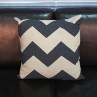 1PC Vintage Classic Black White Stripe Simple Europe Style Cotton&Jute Sofa Cushion Throw Pillow Headrest DP671006