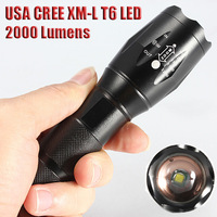 UltraFire E17 CREE XM-L T6 2000 Lumens Zoomable Cree LED Flashlight Torch Light Lamp For 3xAAA or 1x18650 + Bike Mount Holder