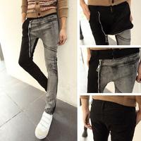 Free shipping! Pop! Personalized decorative zipper boots, pants jeans 2014 new harem pants