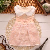 2014 summer new children's clothing children dress Korean girls sleeveless solid color dress