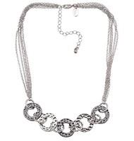 Silver Tone Pendant Necklace ls