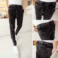 Free shipping! Pop! Slim pants men's jeans pants feet Department Sheng Halun