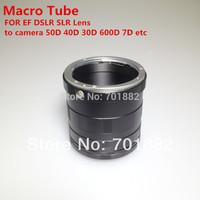 Metal Macro Extension Tube Ring FOR 50D 40D 30D 600D 7D Rebel T1i XTi XS DSLR SLR Camera