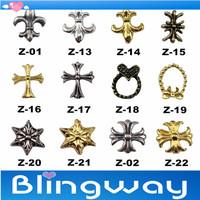 Wholesale Fashion 3D Metal Nail Art Decoration 100Pcs/Lot + Free Shipping