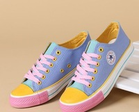 Free shipping 2014 spring  new leisure low canvas shoes Female students sandals sports shoes
